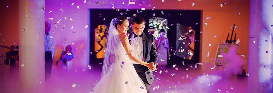 la soirée d'un mariage
