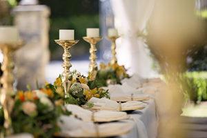 Photo d'un dressage de table de mariage